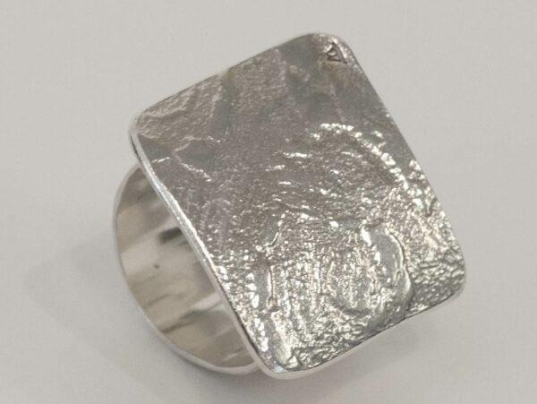 Michelle Gauntlett Square Texture Ring