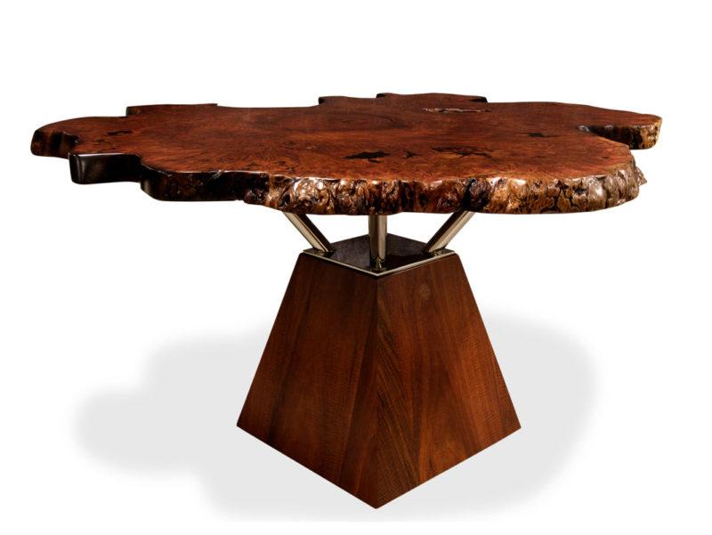 Unique Jarrah Burl Dining Table Fine Art