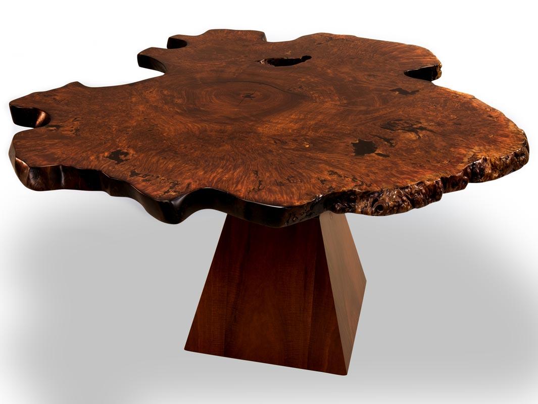 Unique Jarrah Burl Dining Table Fine Furniture Design