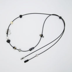 evelyn henschke pearl glass bead lasso necklace