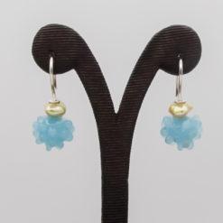 evelyn henschke drop earrings pearl light blue bead