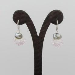 evelyn henschke drop earrings pearl pink bead