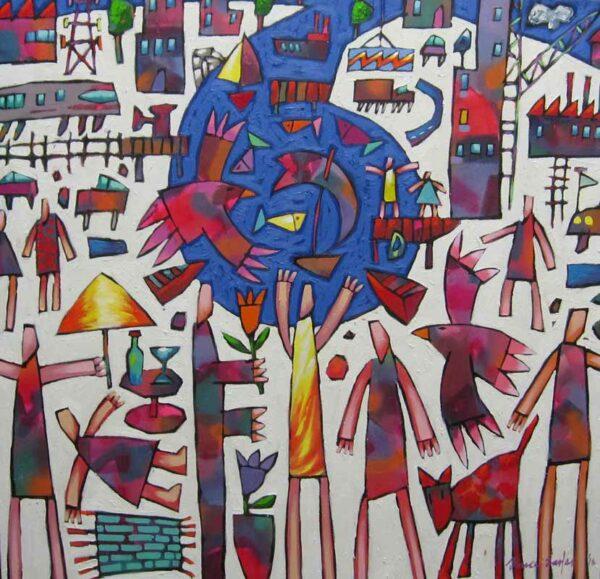 Bruce Earles Leisure Spiral Painting