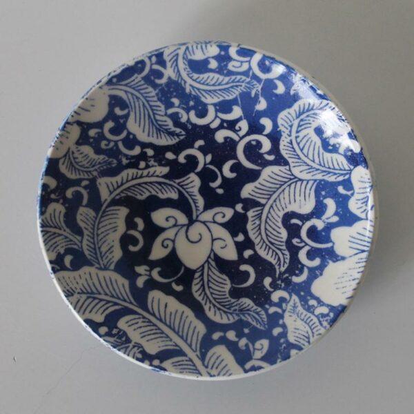 Dariya Gratte Decal Dish Blue Floral