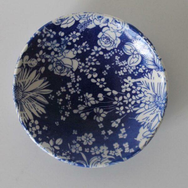 Dariya Gratte Decal Dish Blue Flowers