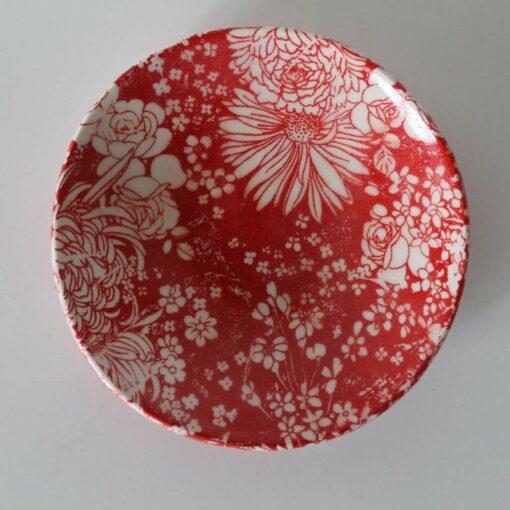 Dariya Gratte Decal Dish Red Floral
