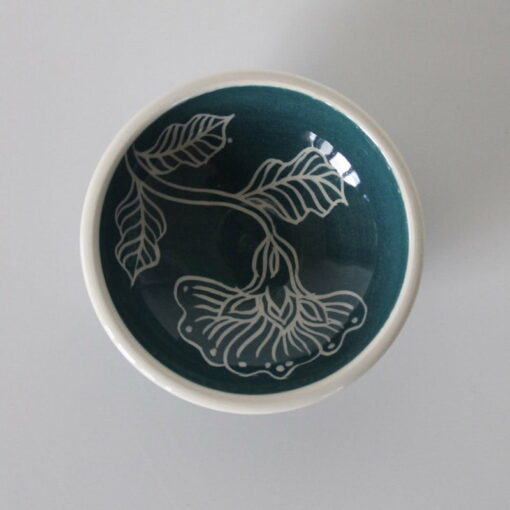 Dariya Gratte Mishima Dish Blue
