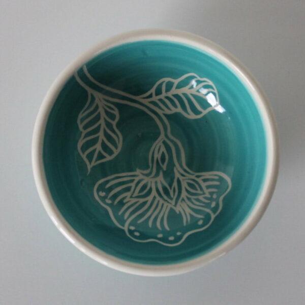 Dariya Gratte Mishima Dish Light Blue With Flower