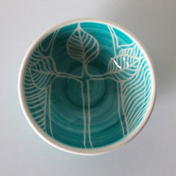 Dariya Gratte Mishima Dish Three Leavesjpeg