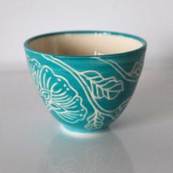 Dariya Gratte Mishima Tea Bowl Aqua  247x247
