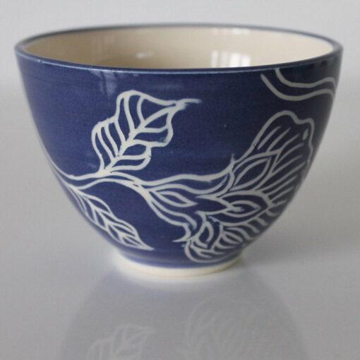 Dariya Gratte Mishima Tea Bowl Royal Blue