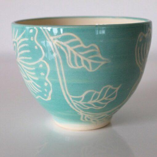 Dariya Gratte Mishima Tea Bowl Lightest Blue