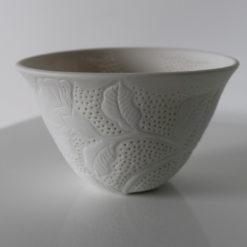 Dariya Gratte   Pierced Porcelain Bowl Med Fine Art