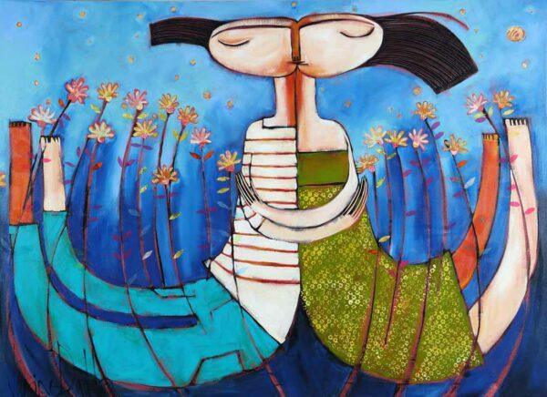 Janine Daddo Moonlight Kisses Painting