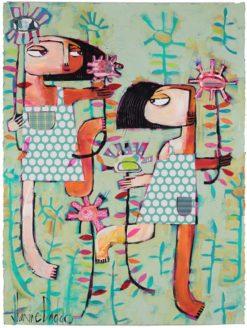 Janine Daddo   Flowers Grew Legs Fine Art