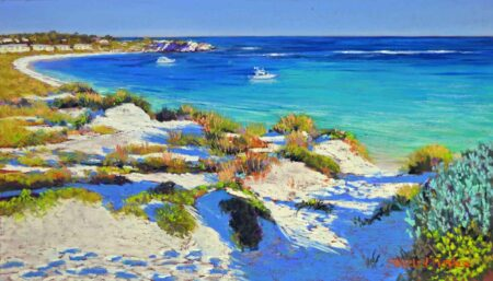 Shirley Fisher Turquoise Waters Rottnest Painting