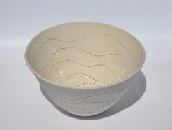 dgr dariya gratte piereced porcelain bowl