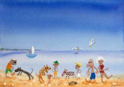 Helen Norton   Dog Beach Fine Art