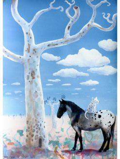 Helen Norton   Horse and a Tree Fine Art