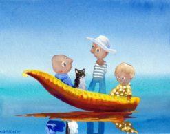 Helen Norton   Puss in Boat Fine Art
