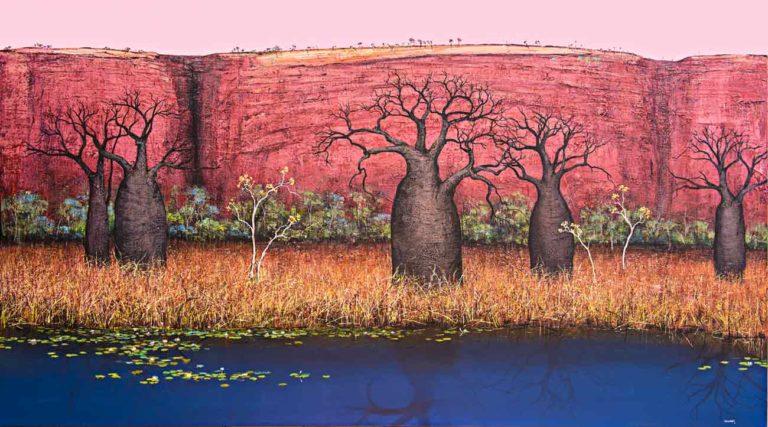 Ingrid Windram Landscape In Essence painting 768x427