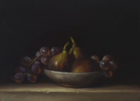 Philip Drummond Figs And Grapes Stilllife Painting