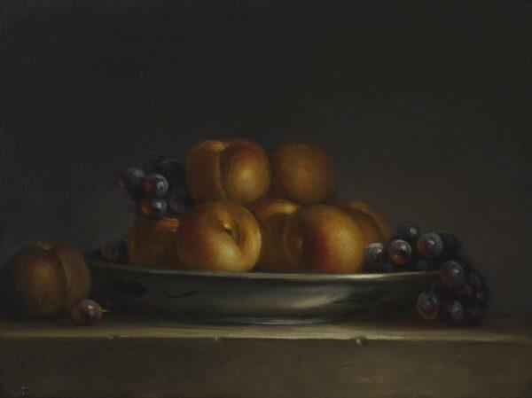 Philip Drummond Golden Peaches Stilllife Painting