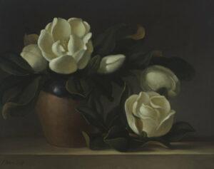 Philip Drummond Magnolias Stilllife Painting