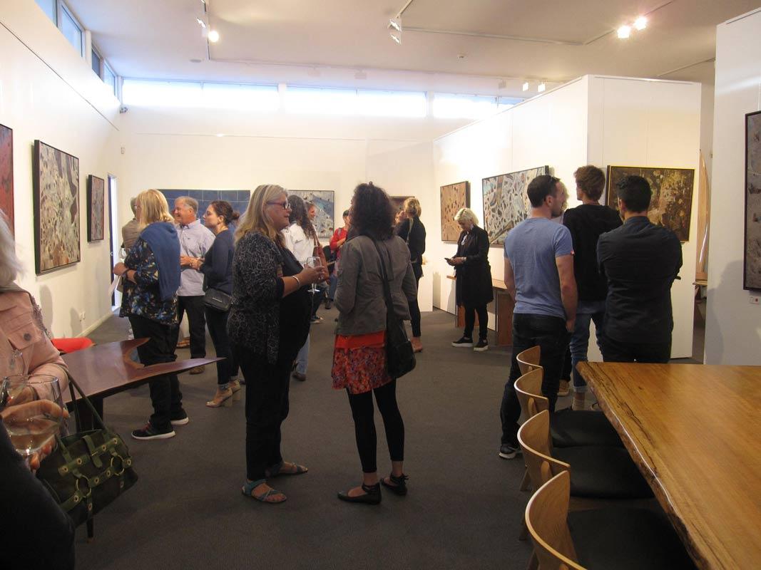 Bec Juniper Exhibition Opening Night Crowd 1