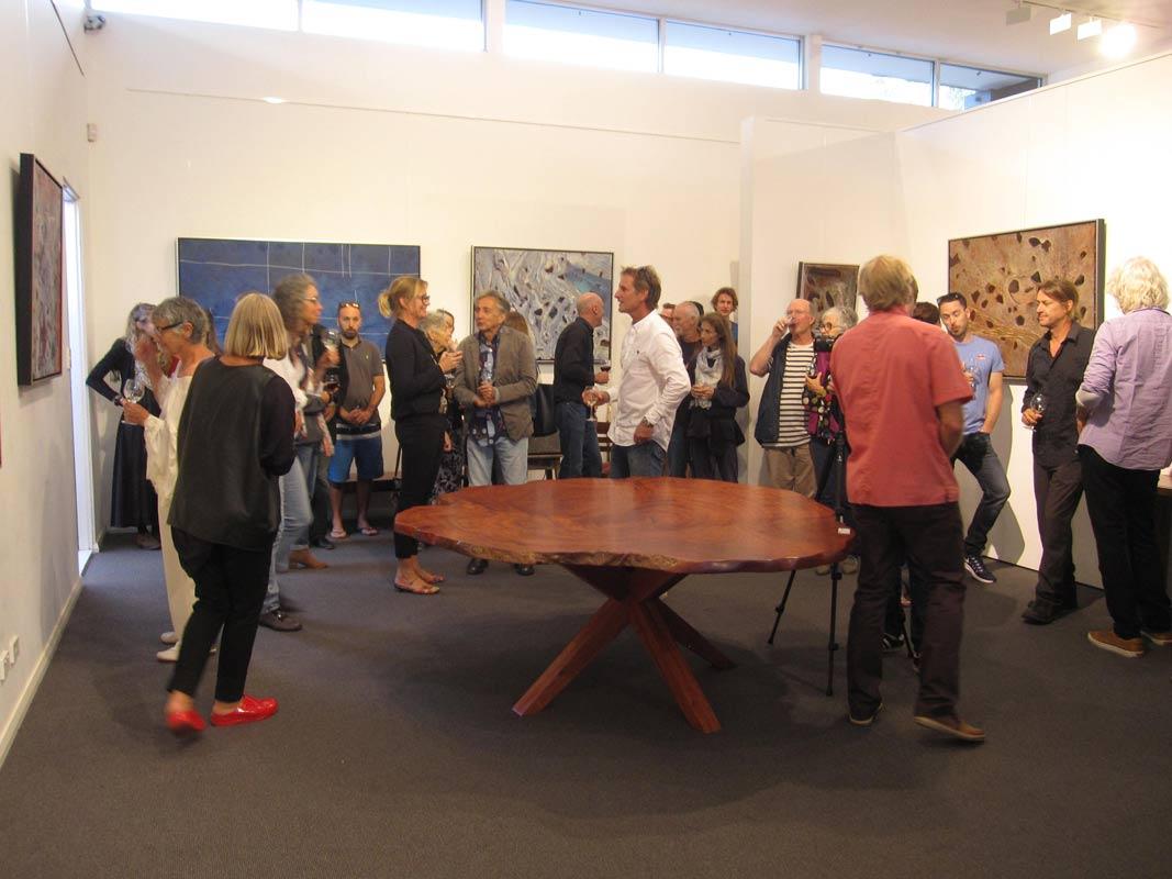 Bec Juniper Exhibition Opening Night Crowd 11
