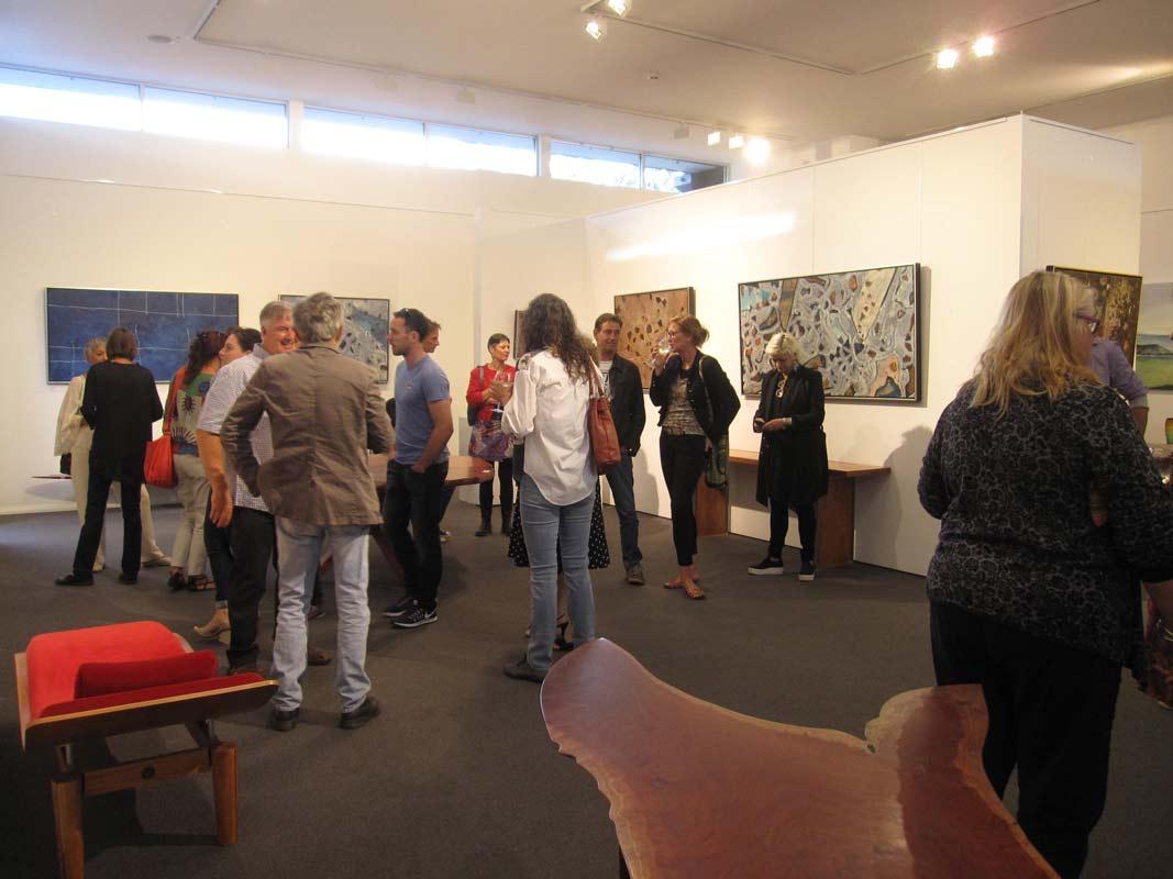 Bec Juniper Exhibition Opening Night Crowd 2