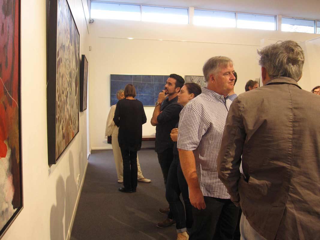 Bec Juniper Exhibition Opening Night Crowd 3