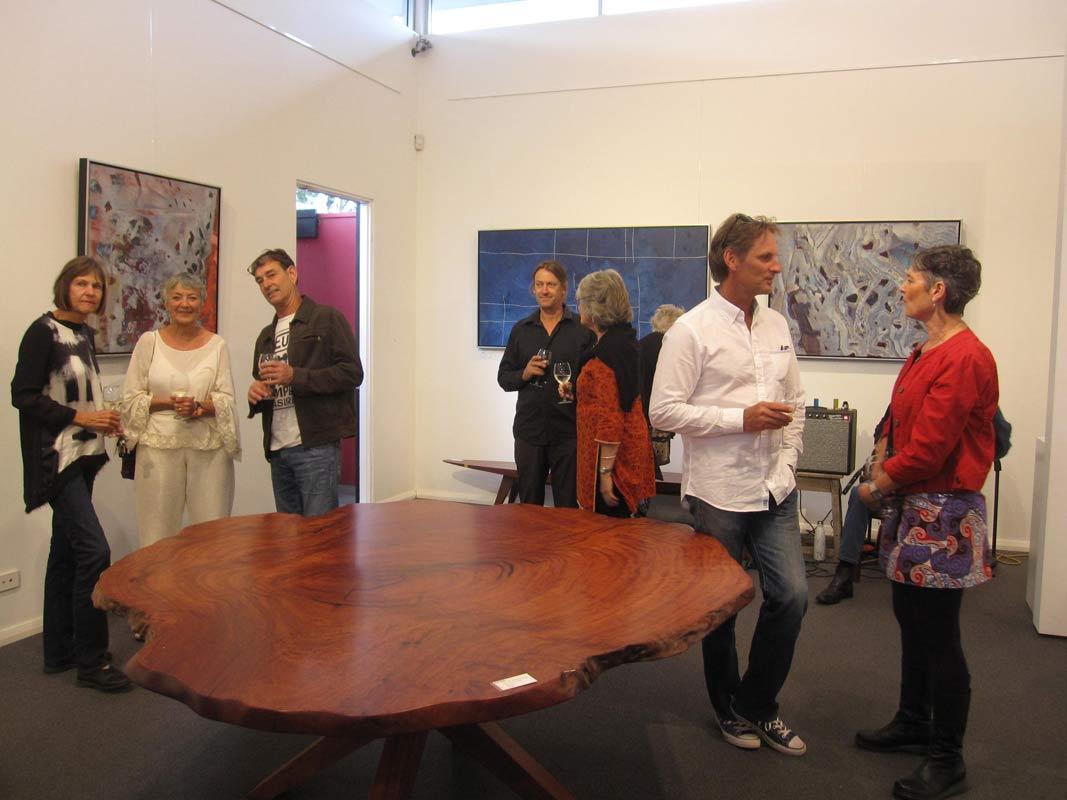 Bec Juniper Exhibition Opening Night Crowd 5