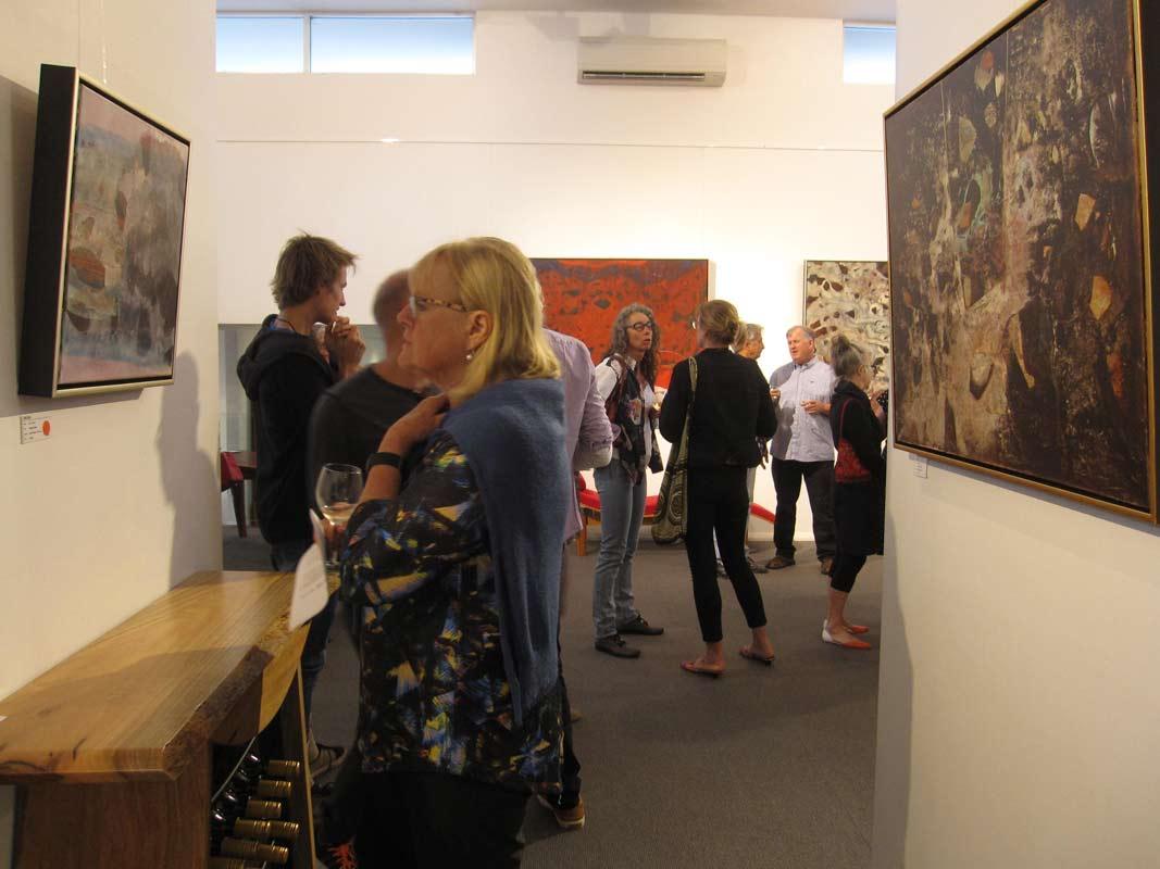 Bec Juniper Exhibition Opening Night Crowd 6