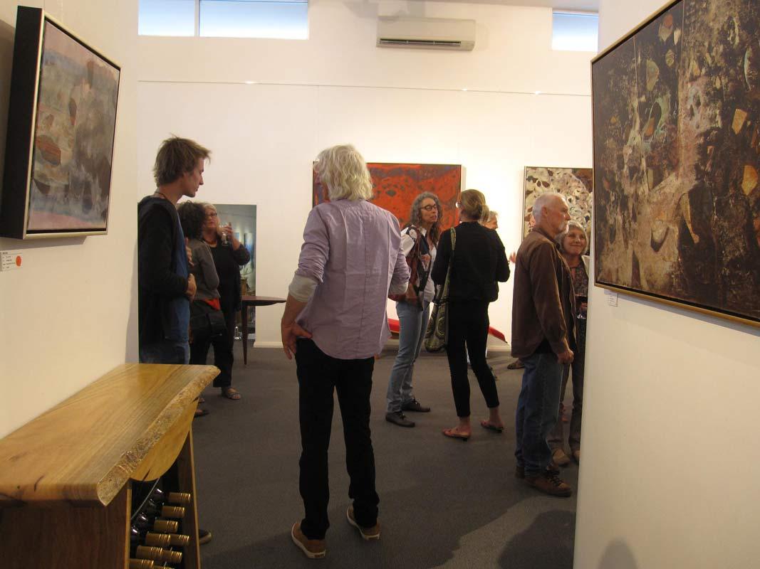 Bec Juniper Exhibition Opening Night Crowd 7