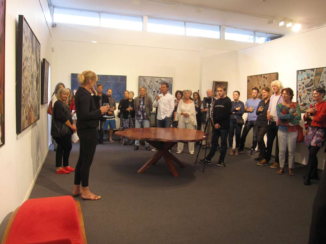 Bec Juniper Exhibition Opening Night Crowd 9