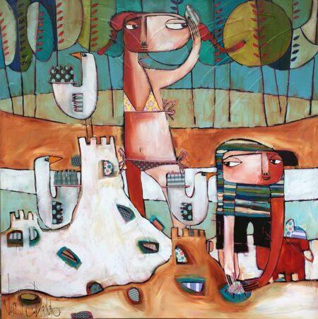 Janine Daddo Ocean Whispers Painting