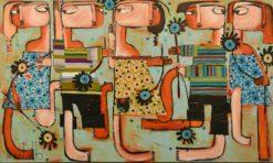 Janine Daddo   Petal Parade Fine Art