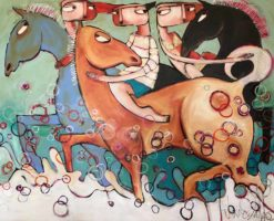 Janine Daddo   Sea Horses Fine Art
