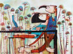 Janine Daddo   Sunday Snoozing Fine Art