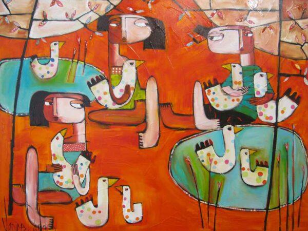 Janine Dado Duck Duck Goose 2 Painting