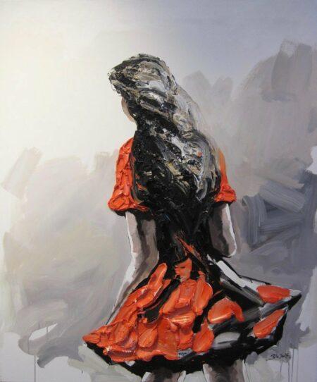 Palla Jeroff Desert Girl 2 Painting