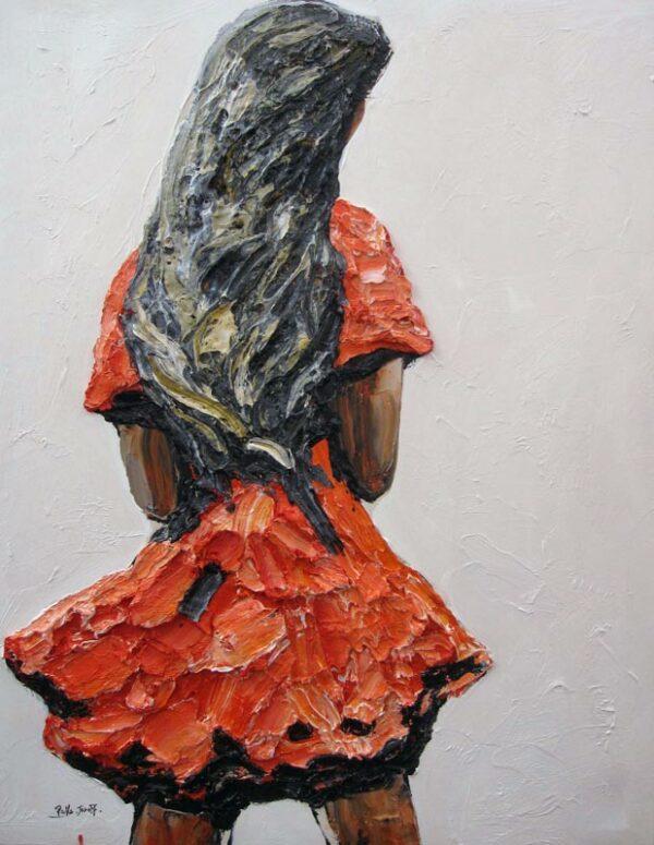 Palla Jeroff Girl Painting