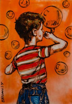 david bromley boy with bubble painting