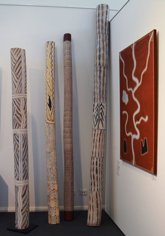 Aboriginal Art Memorial Poles