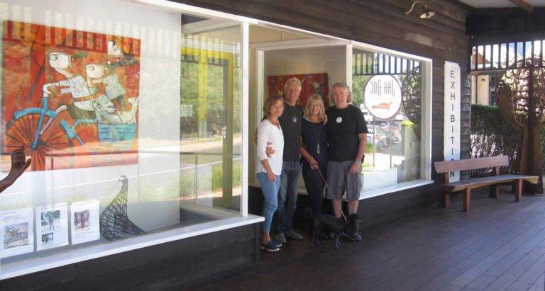 Gary Lara David Joanne in front of gallery 1 768x411