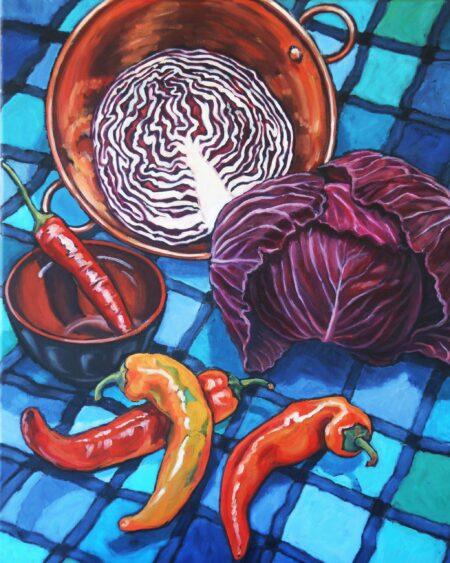 Tin38 Susan Tingay Red Cabbage 50cmx60cm 750 Scaled