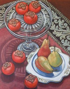 Susan Tingay   Persimmons & Pear Fine Art