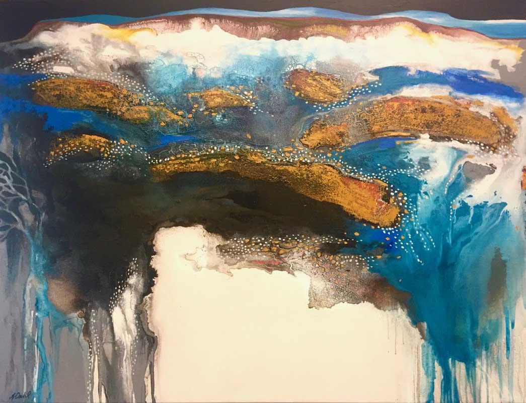 Astrid Dahl Rain In An Ancient Land Painting