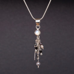 Emma Cotton   Moonstone & Pearl Pendant Fine Art
